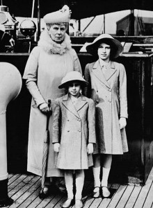 Queen Mary with her granddaughters Princess Elizabeth, the future Elizabeth II and Princess Margaret. George V's consort believed that younger royals should be prepared for their future life of public service.