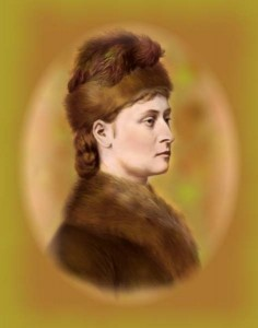 Princess Louise in Canada, suitably dressed for winter weather.