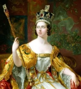 Portrait of the nineteen year old Queen Victoria on her coronation day in 1838.