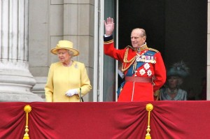 Queen Elizabeth II and Prince Philip, Duke of Edinburgh on the Balcony of Buckingham Palace during the Diamond Jubilee Celebrations