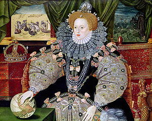 Portrait of Elizabeth I celebrating her victory over the Spanish Armada