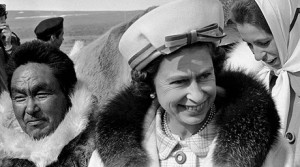 Queen Elizabeth II and Princess Anne touring Resolute Bay, Northwest Territories in 1970