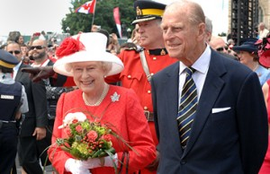 Queen Elizabeth II and the Duke of Edinburgh in Canada in 2010