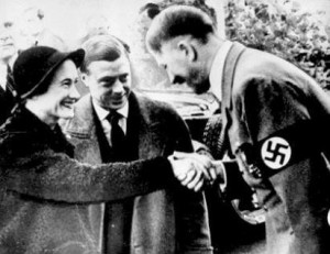 The Duke and Duchess of Windsor meeting with German Chancellor Adolf Hitler in 1937