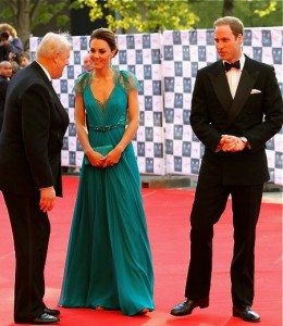 The Duke and Duchess of Cambridge at a 2012 Olympic Gala