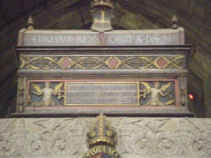 A 16th century mortuary chest from Winchester Cathedral, which repudedly contains the remains of Alfred the Great's grandson, King Eadred