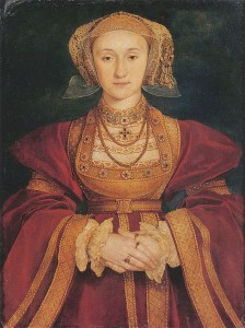 Portrait of Henry VIII's 4th wife, Anna of Cleves by Hans Holbein