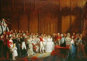 George Hayter's painting of the wedding of Queen Victoria to Prince Albert