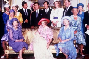 A group photograph from Prince William's christening in 1982