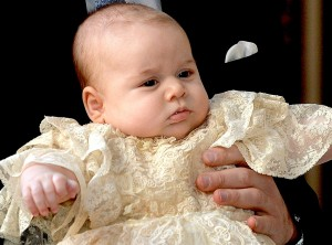 Prince George of Cambridge at his christening on October 23, 2013. Photo Credit: John Stillwell/PA Wire/Press Association via AP Images