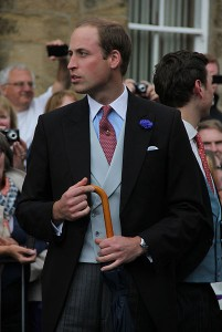 Prince William, The Duke of Cambridge at the wedding of Lady Melissa Percy last year.
