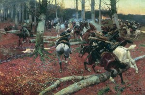 """A Scene from the Caucasian War"" by Franz Alekseyevich Roubaud"