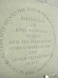 The site of Greenwich Palace, favourite residence of King Henry VIII