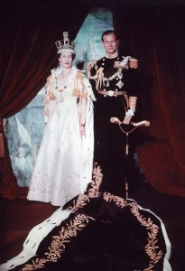 Coronation portrait of Queen Elizabeth II and Prince Philip, Duke of Edinburgh. June 2, 1953
