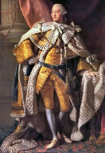 King George III in his coronation robes