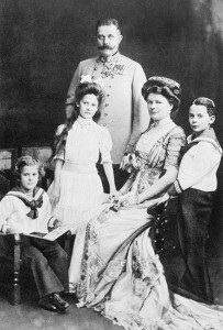 Archduke Franz Ferdinand his wife Sophie and their three children.