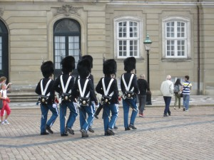 The Changing of the Guard outside the Amalienborg Palace, Copenhagen