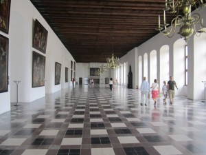 The ballroom at Kronborg