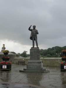 Statue of David Lloyd George in Caernarfon
