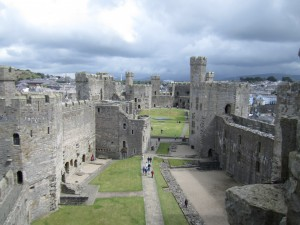 View of Caernarfon Castle from Eagles Tower