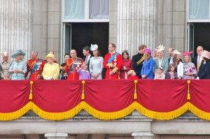 The Royal Family on the Buckingham Palace balcony after the 2012 Trooping the Colour Parade