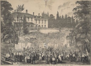 Victoria Day celebrations outside Government House in Toronto in 1854