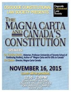 Magna Carta Osgoode Law