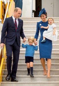 The Duke and Duchess of Cambridge and their children, Prince George and Princess Charlotte arrive in Canada