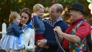 Princess Charlotte, the Duchess of Cambridge, Prince George and the Duke of Cambridge in Victoria, British Columbia (Photo Credit: The Canadian Press)